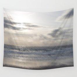 Silver Scene ~ Ocean Ripple Effect Wall Tapestry