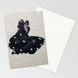 Rabbit in a Snowstorm Stationery Cards