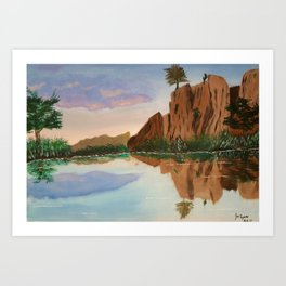 Cliffside Reflections Art Print