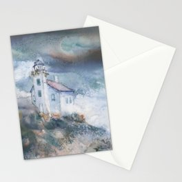 Gull Island Lighthouse Stationery Cards