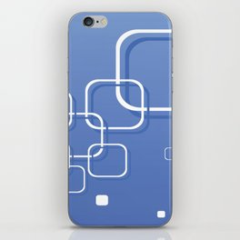 WHITE SQUARES ON A BLUE BACKGROUND Abstract Art iPhone Skin