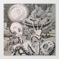 alien Canvas Prints featuring Alien by Ju.jo.weh