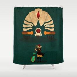 Red vs Jerk Shower Curtain