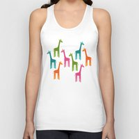giraffes Tank Tops featuring Giraffes by ts55