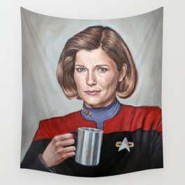 Captain Janeway - Portrait Painting Wall Tapestry