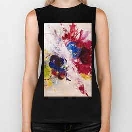 Abstract bouquet Biker Tank