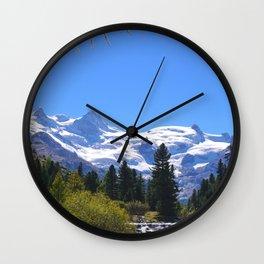 Roseggtal Switzerland - Swiss Alps Travel Wall Clock