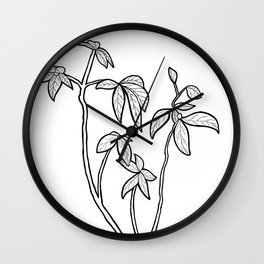 Little House Plant Wall Clock