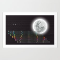 Moon Calendar 2015 by Friztin Art Print