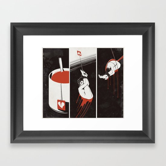 Lust Drop Framed Art Print