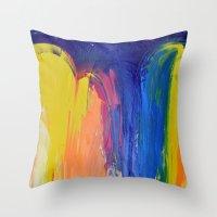 the strokes Throw Pillows featuring Strokes by Tony Vazquez