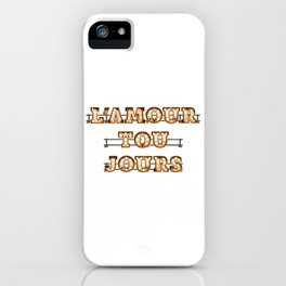 L'Amour Toujours -  Wall-Art for Hotel-Rooms iPhone Case