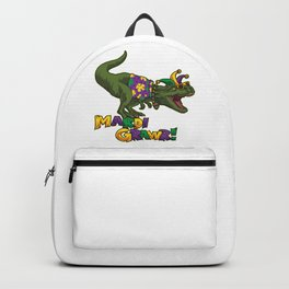 Mardi Gras T-Rex - Mardi Grawr - Dinosaur Costume Backpack