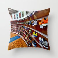 runner Throw Pillows featuring Runner by LeicaCologne Germany