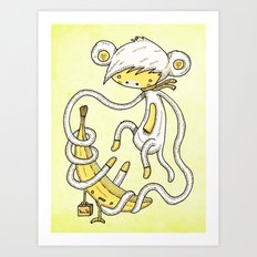 The Monkey and the banana Art Print