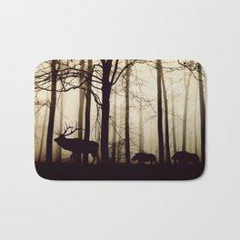 Forest night deer Bath Mat