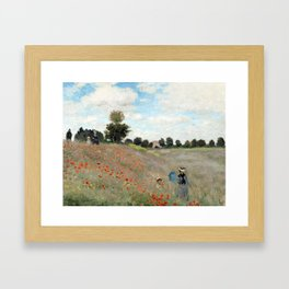 1873-Claude monet-Poppy Field-50 x 65 Framed Art Print