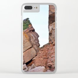 Indian Head Rock Clear iPhone Case