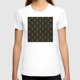 At The Piano Bar... Art Deco Gold Pattern T-shirt