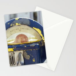Weathered Parking Meters Stationery Cards