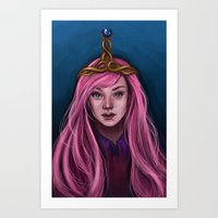 princess bubblegum Art Prints featuring Princess Bubblegum by Rat Girl Studios