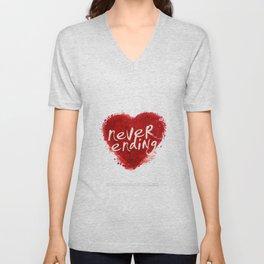 never ending love Unisex V-Neck