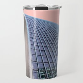 London Architecture in Pink Travel Mug