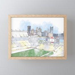 Heinz Field Framed Mini Art Print