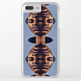 Abstract Surrealist Face, Zen & Stress Clear iPhone Case