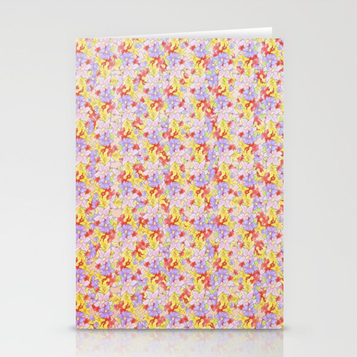 Simple Flower Pattern Stationery Cards
