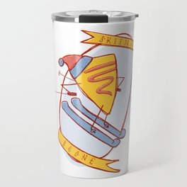 Skiing Scone Travel Mug