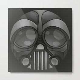 Rounded Vader Mask Metal Print