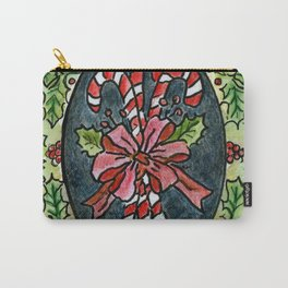 Candy Canes and Holly Carry-All Pouch