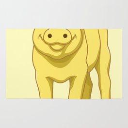 Cute Piglet July 17 Yellow Pig Day Rug