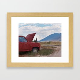 Clifford the Big Red Truck Framed Art Print