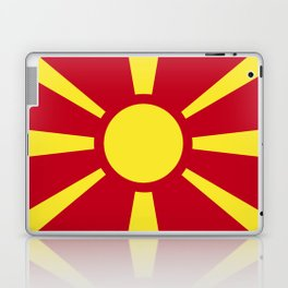 Macedonia flag emblem Laptop & iPad Skin