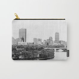 Black & White Boston Skyline III Carry-All Pouch