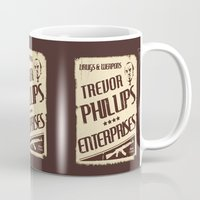 gta Mugs featuring GTA Trevor Phillips Enterprises by Spyck
