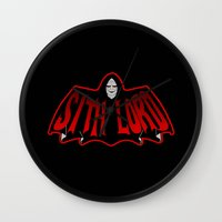 sith Wall Clocks featuring Sith Lord by Buby87