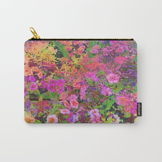 Rainbow Floral Landscape Carry-All Pouch