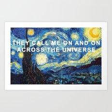Starry Night Across the Universe Art Print