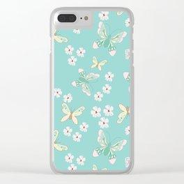 Petite Butterflies Clear iPhone Case