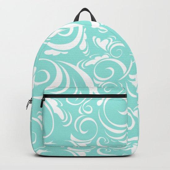 Blue Tiffany Floral Backpack