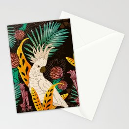 Tropical Cockatoos Stationery Cards