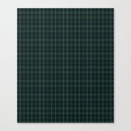 Green and Blue Plaid Canvas Print