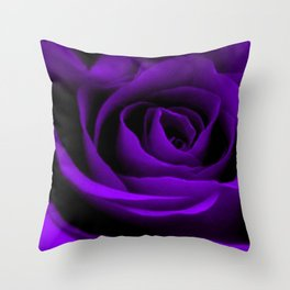 A Purple Rose Throw Pillow
