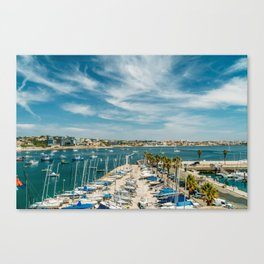 Luxury Yachts And Boats In Cascais Port At Atlantic Ocean, Wall Art Print, Luxury Resort Art, Poster Canvas Print