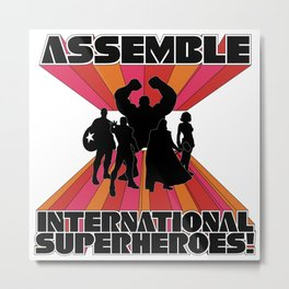 International Superheroes Metal Print