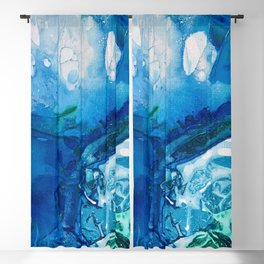 Deep Blue Ocean Life Blackout Curtain
