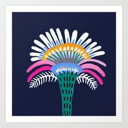 Zelestial Flower Art Print